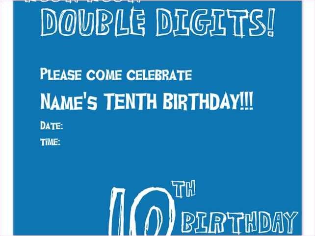 10th birthday invitation boy