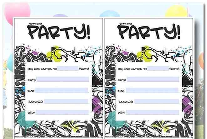12 year old birthday party invitation ideas