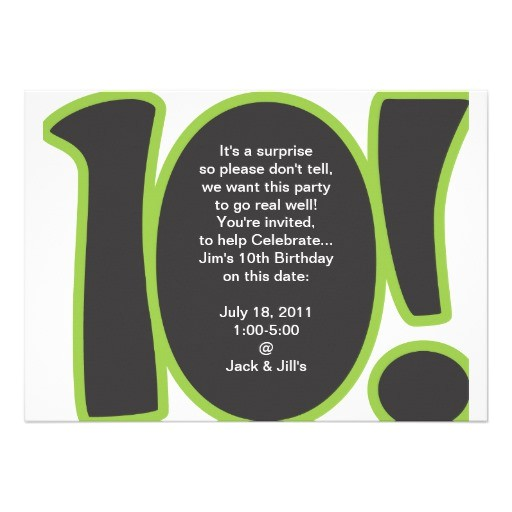 10th birthday invite 161288271648861073