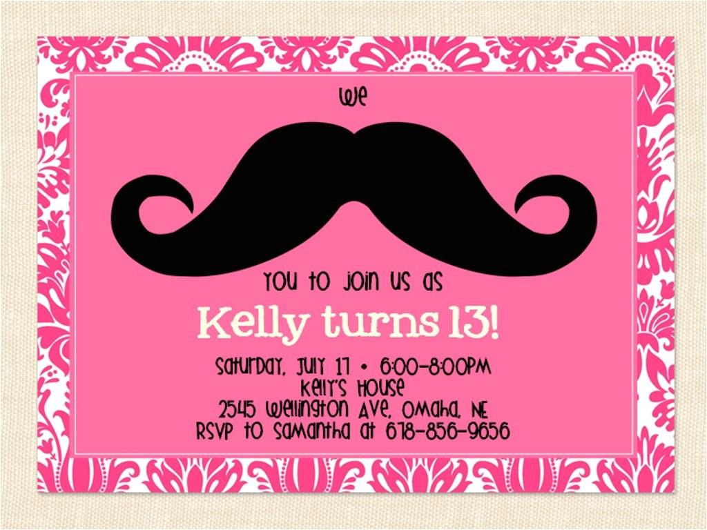 13th birthday party invitation ideas