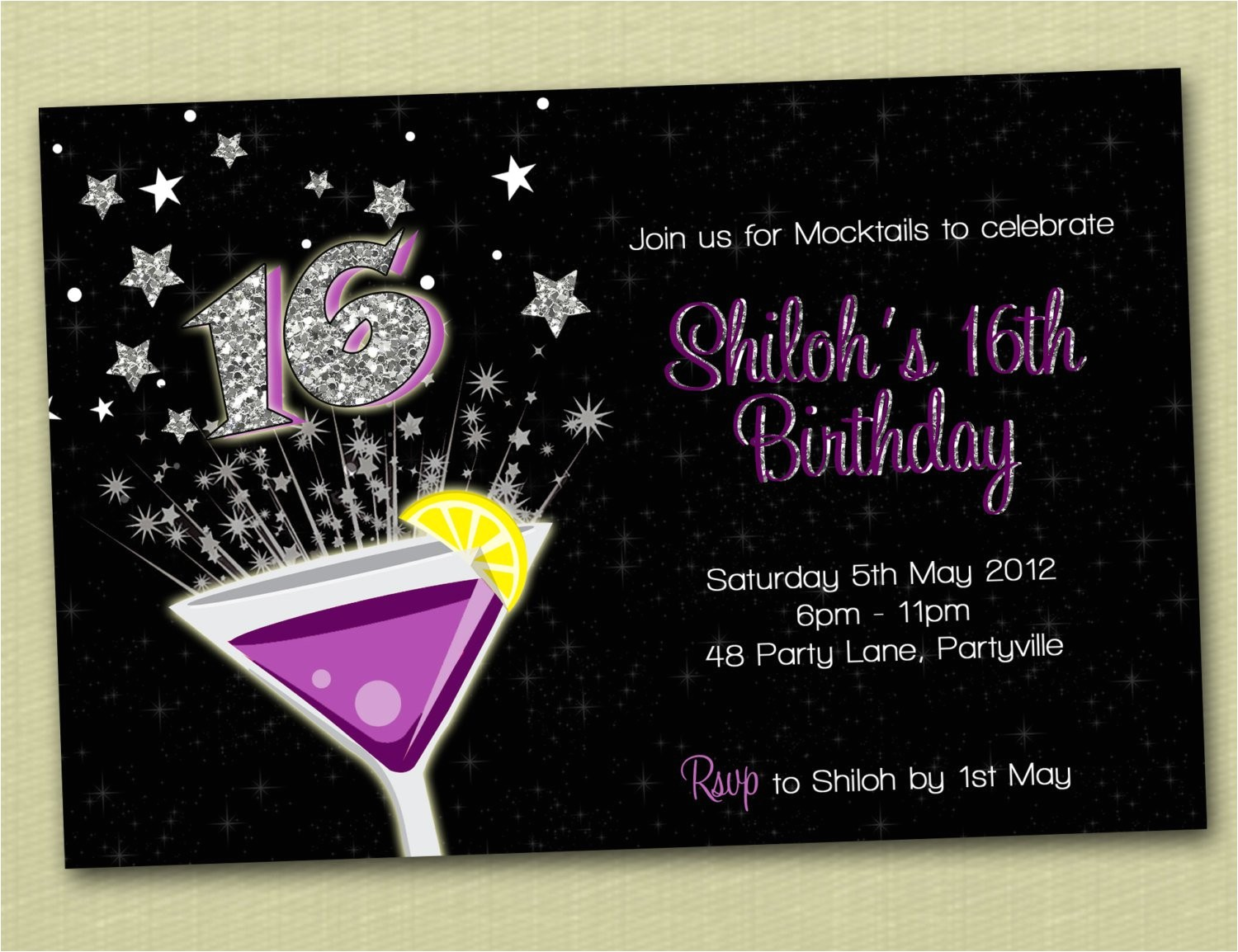 boys 16th birthday invitations