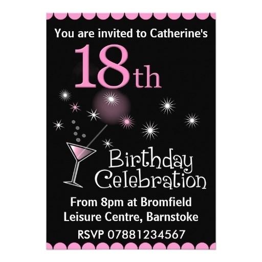 invitation letter 18th birthday sample