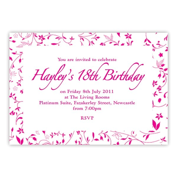 18th birthday invitation card maker free