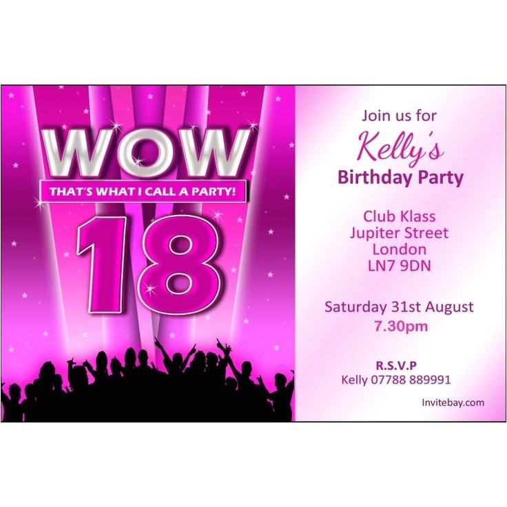 18 Year Old Birthday Party Invitations 18th Birthday Party Invitations