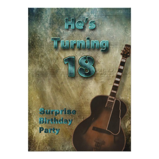 18th birthday party invitation brown teal male 161393330457910253