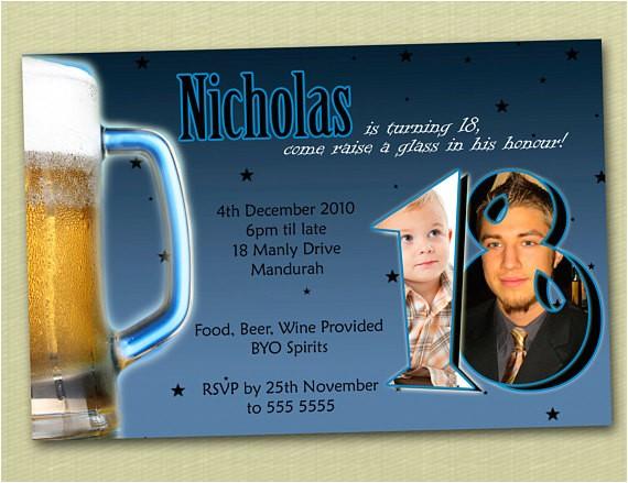 personalised birthday invitations 18th 21st 30th