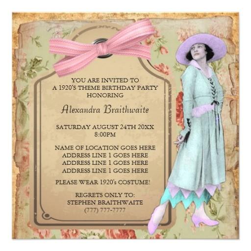 1920s theme birthday party invitation 161564827023863088
