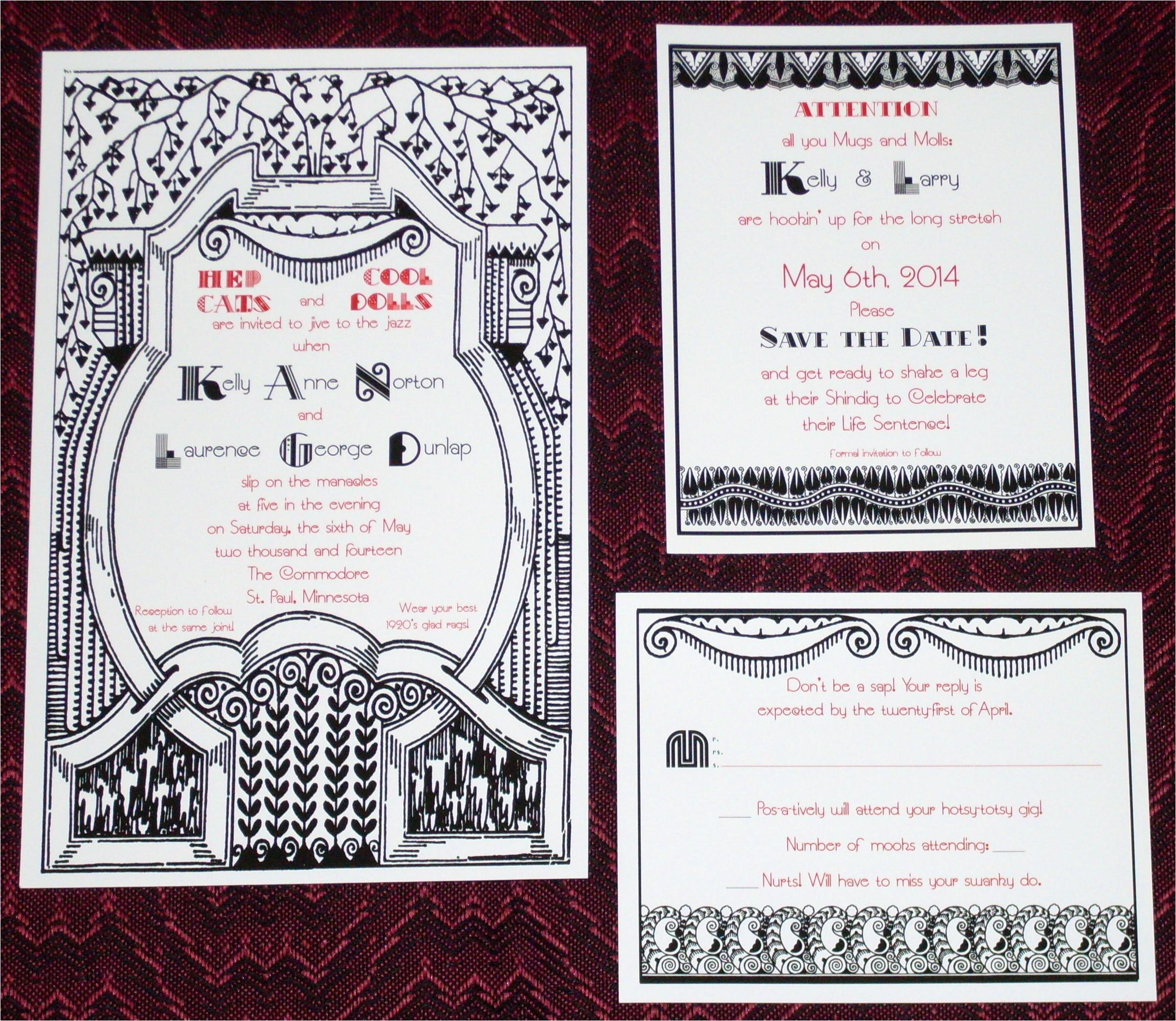 1920s party invites