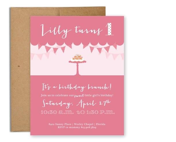1st Birthday Brunch Invitations Birthday Brunch for Seniors Just B Cause