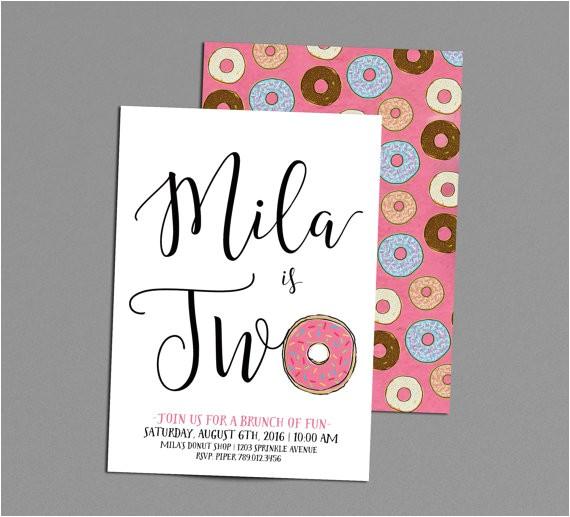 donut birthday invitation rise shine its