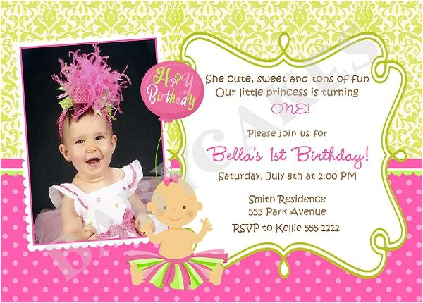1st Birthday Invitation Card Wordings First Birthday Invitation Wording and 1st Birthday