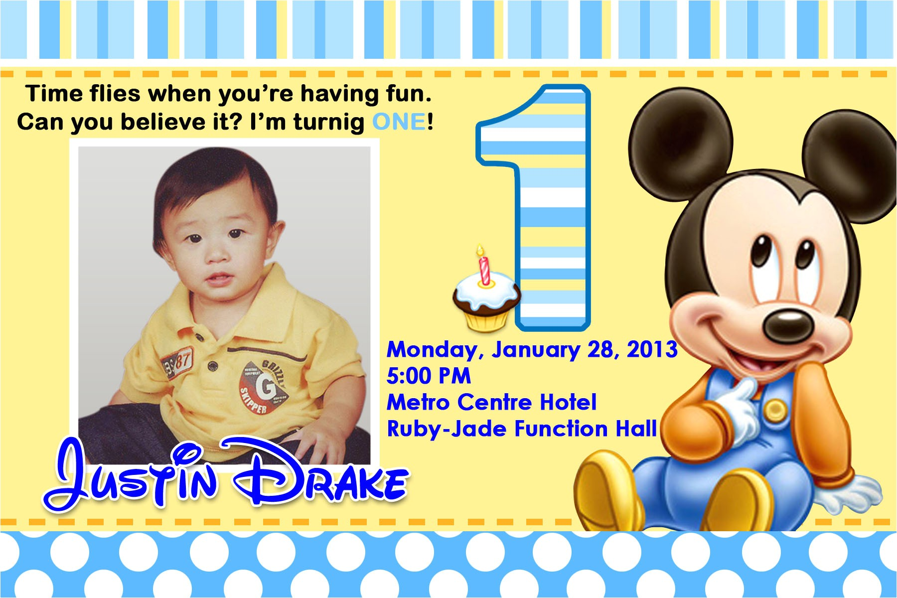 1st birthday invitation marathi card