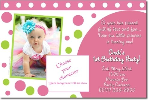 1st birthday invitation card design blank for girls