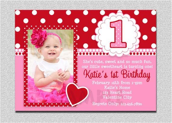valentines birthday invitation 1st