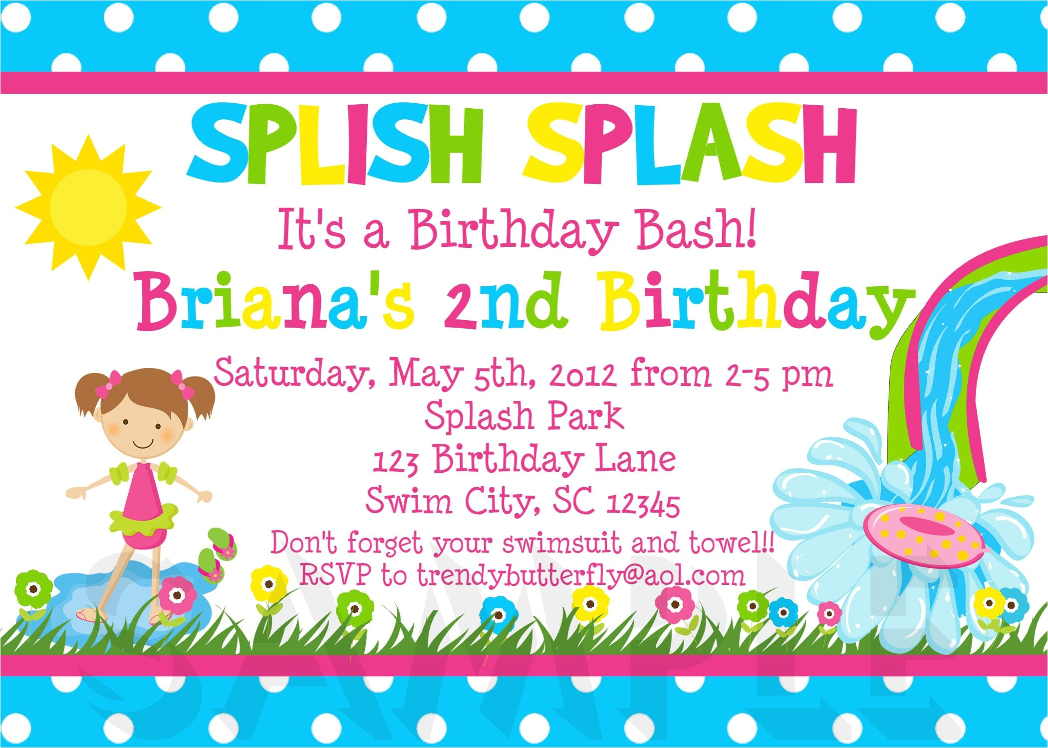 birthday invitation sample letter