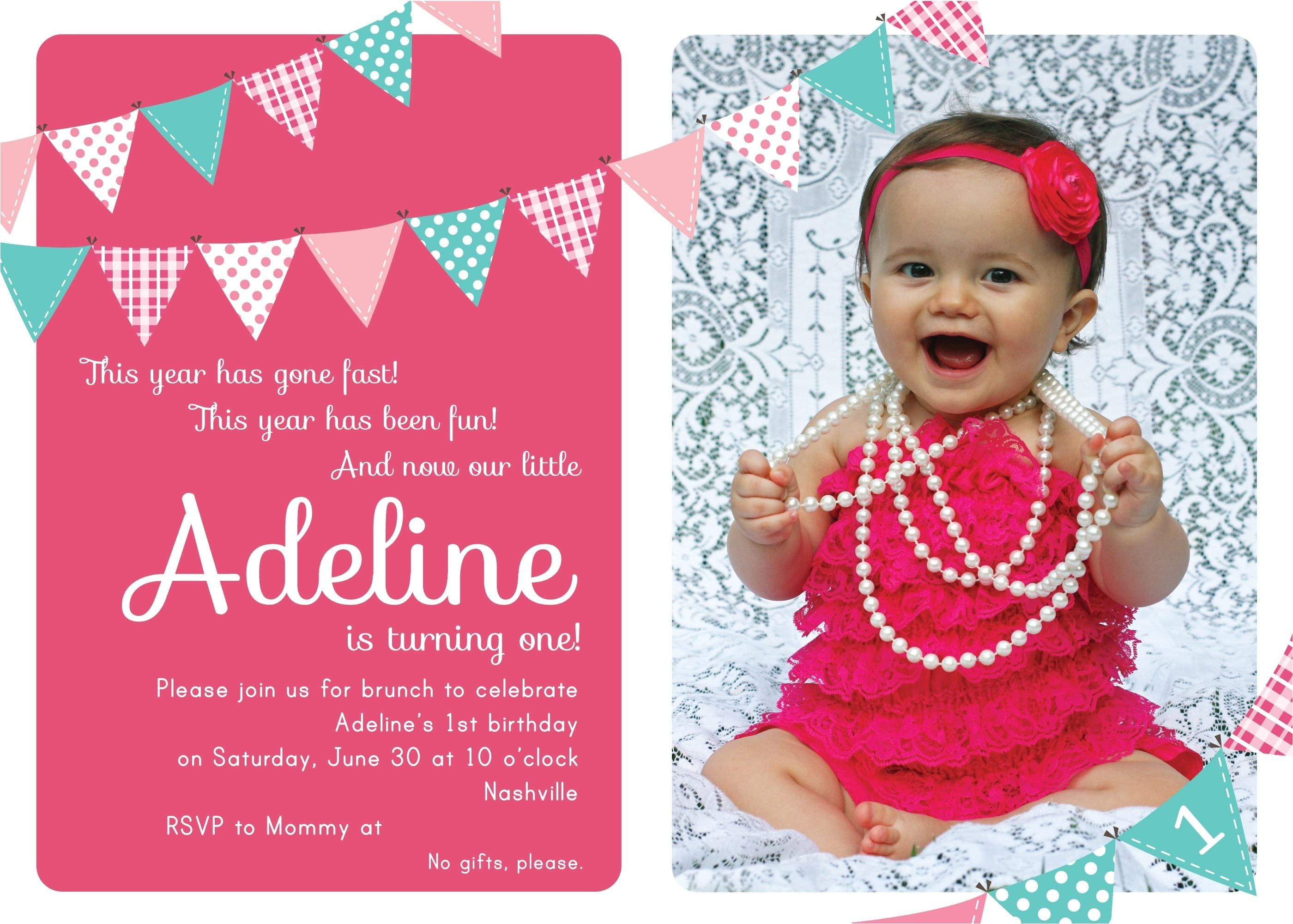 sample invitation letter for first birthday party