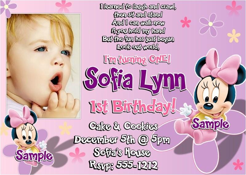 1st Birthday Invitation Sample 1st Birthday Invitation Wording and Party Ideas Bagvania
