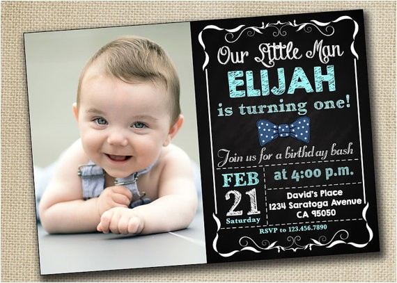 baby boy girl first birthday invitation