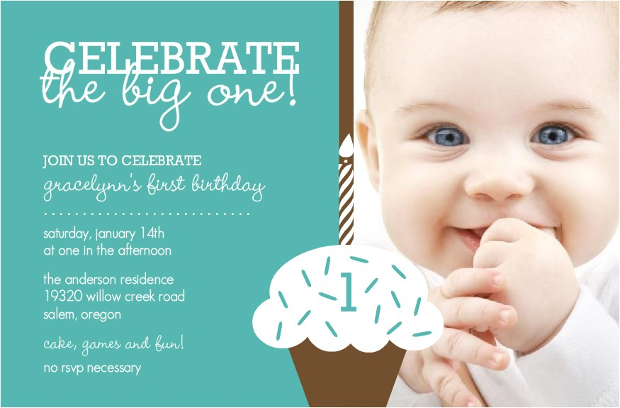 first birthday invitation cards for baby boy girl