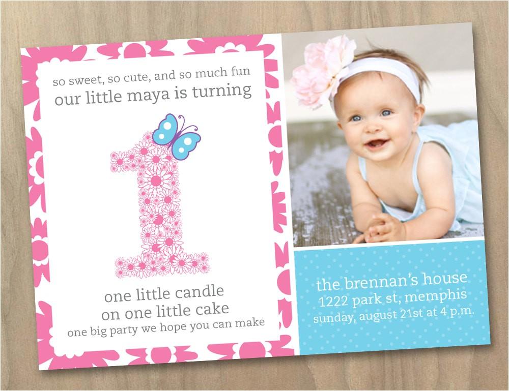 ideas of baby girl birthday party invitation