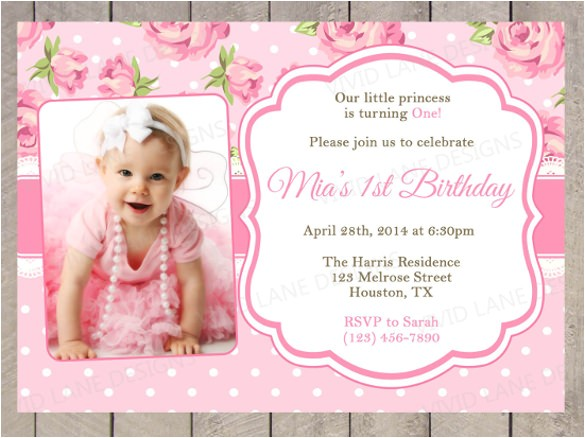 photo birthday invitation