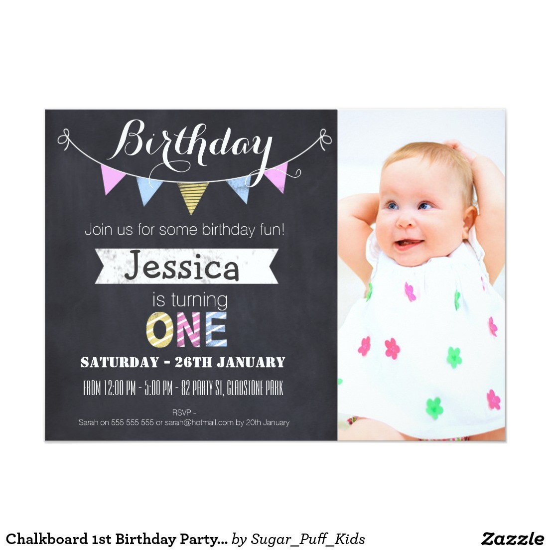 free first birthday invitations girl