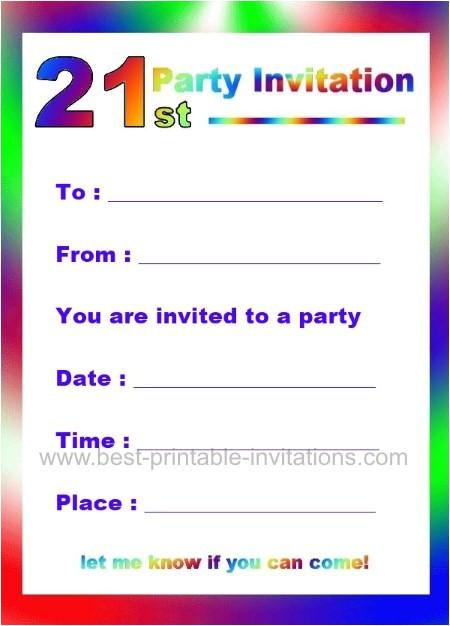 21st birthday party invitations