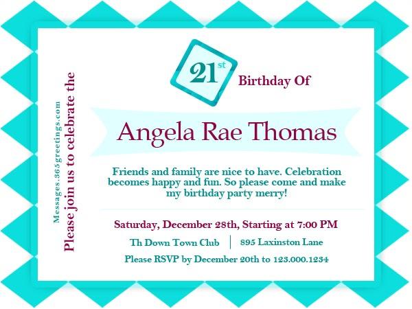 21st birthday invitations