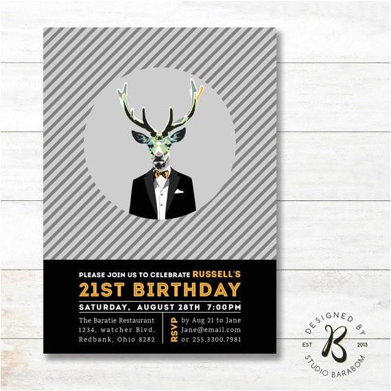 modern 21st birthday invitation 20th30th40th milestone