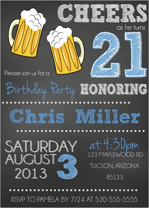 21st birthday invitations maletml