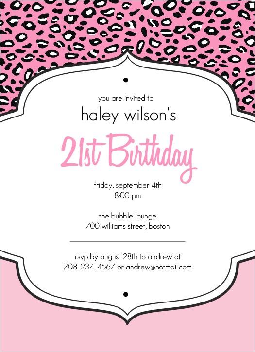 21st birthday invitation templates free
