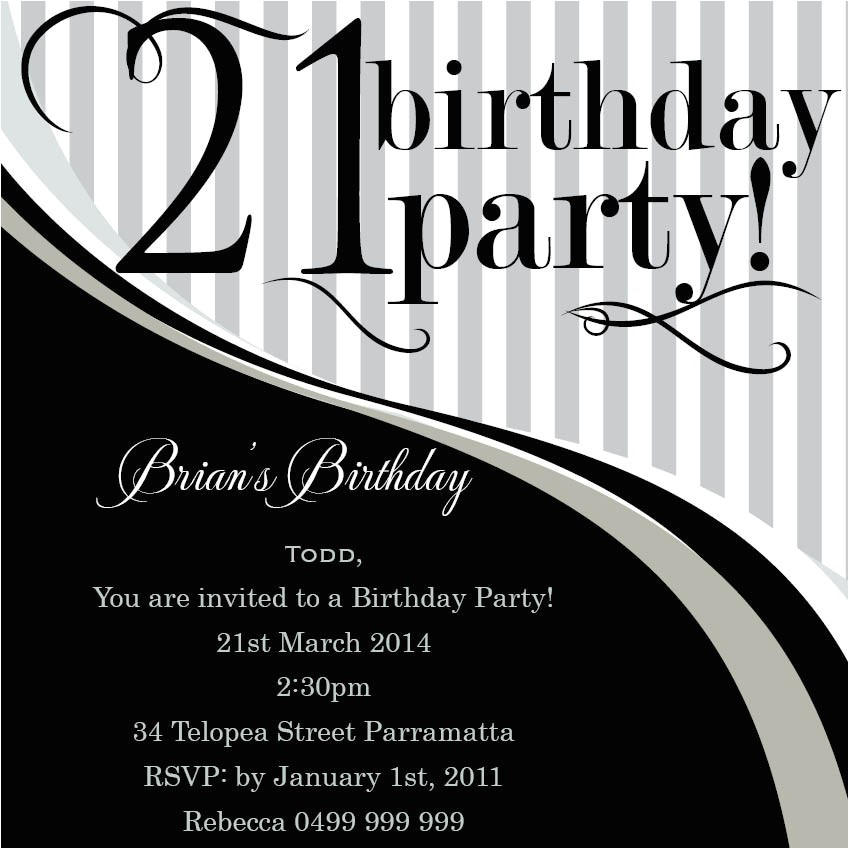 top 14 21st birthday party invitations