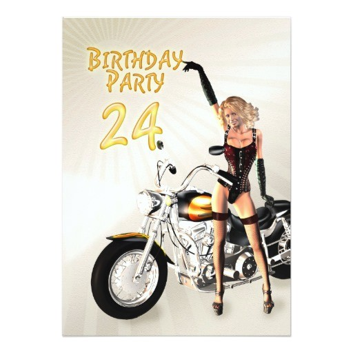 24th birthday party invitation
