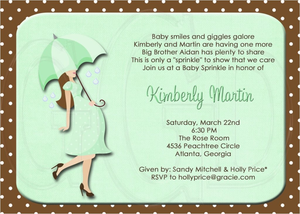 second baby shower invitations wording