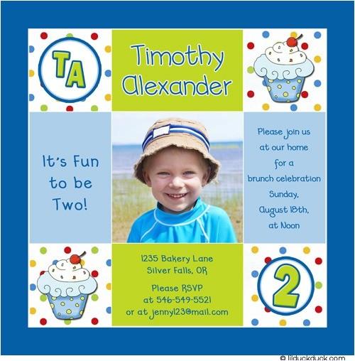 boy cupcake 1st birthday invitation