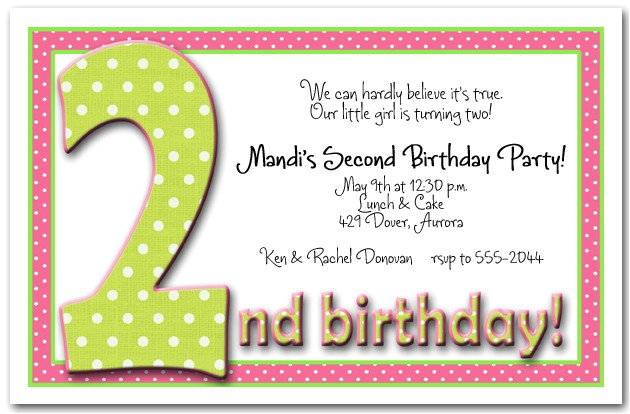 2nd Birthday Invitation Message for Boy 2nd Birthday Invitation Wording Ideas – Bagvania Free