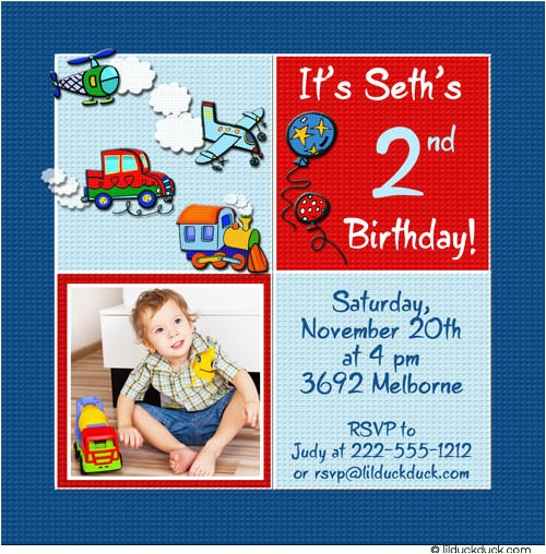 2nd birthday invitations boy