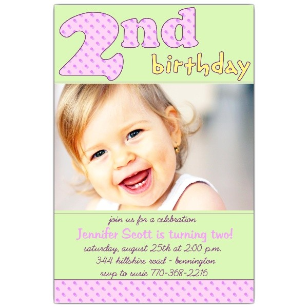 2nd birthday pink invitations p 610 46 081p