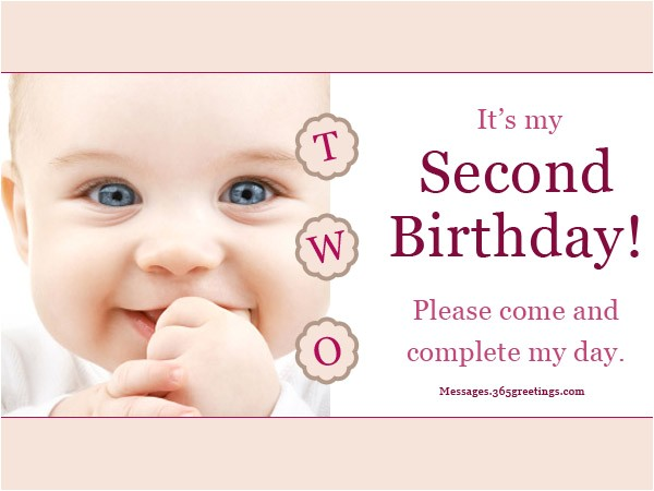 2nd birthday invitation wording