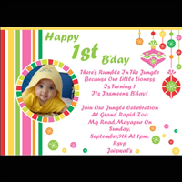 best style birthday invitation cards online modern ideas simple creation template one year bday real photo