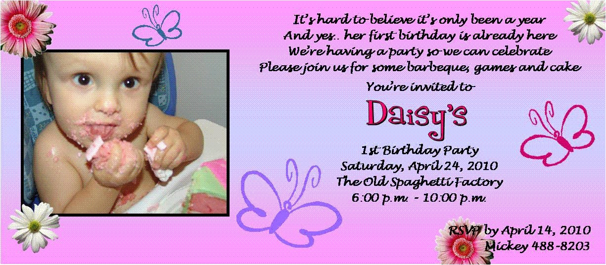 see all this 1st birthday party invitation wording