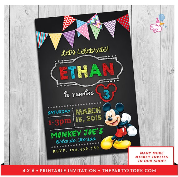 mickey mouse clubhouse invitations printable personalized 4