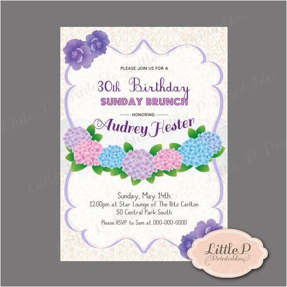 30th birthday invitation sunday brunch