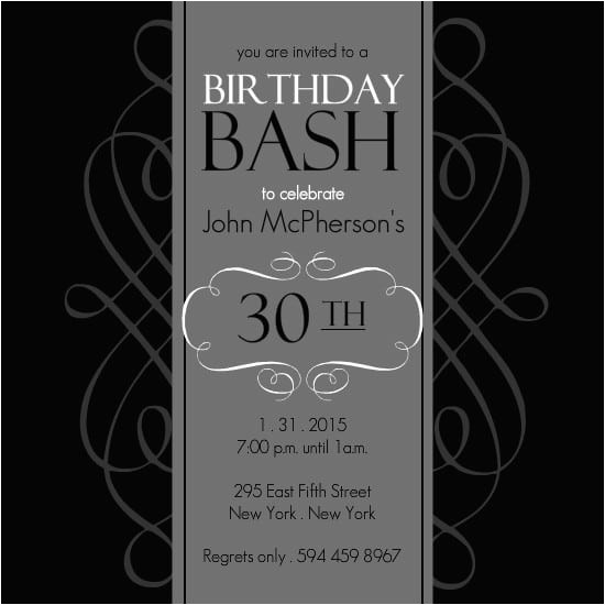 30th birthday invitations free template free software