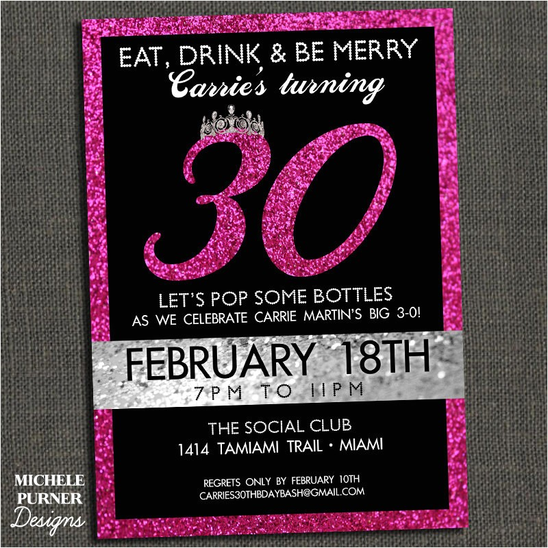 30th birthday invitations free printable 2