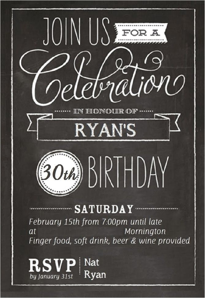 free 30th birthday invitations templates