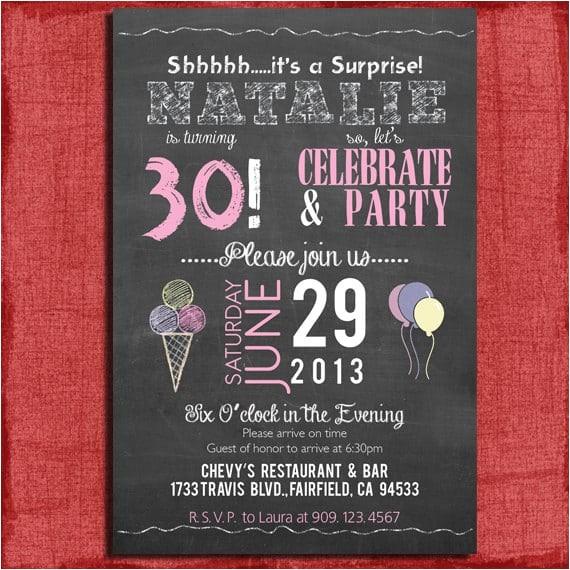 free printable surprise 30th birthday invitation