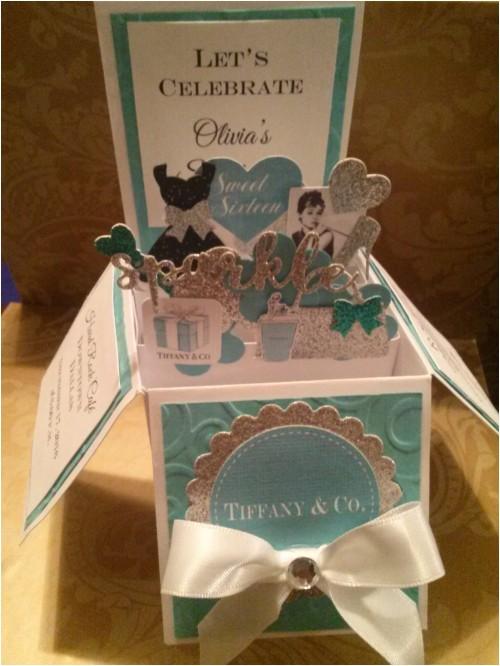 10 3d card in a box tiffany sweet 16 quincea era birthday invitations