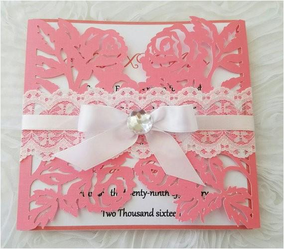 3d roses invitationsweetsixteen15 anos