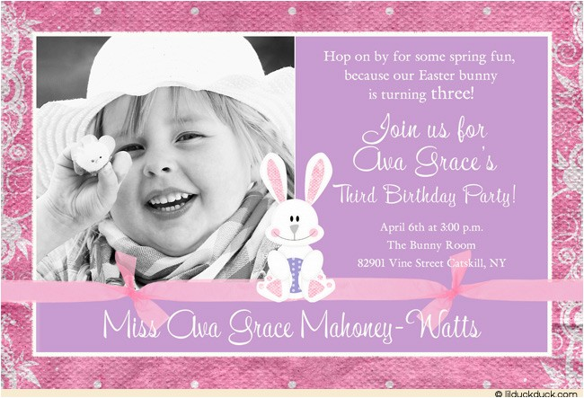 3rd birthday party invitation wording ideas